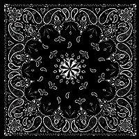 ZANheadgear Pañuelo de algodón, Cachemira Negra, Cachemira Negra, 12 x 6 x 1.9 Inch
