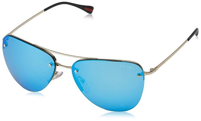 Prada Linea Rossa 0Ps 53Rs Gafas de sol, Pale Gold, 57 para ...