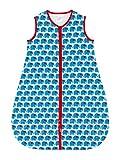 100% Cotton Blue Elephant Unisex Toddler Sleeping Bag - 1 TOG - Large (18-36 Months)