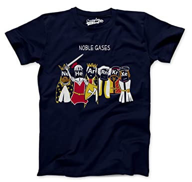 Amazon.com: Mens Noble Gases Science T shirt Funny Science Shirts ...