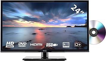 HKC 24C2NBD (24 Pulgadas) Televisor LED con Reproductor de DVD (HD Ready, Triple Tuner, Ci+, HDMI, Reproductor de Medios a través de USB 2.0) [Clase de eficiencia energética A]: Amazon.es: Electrónica
