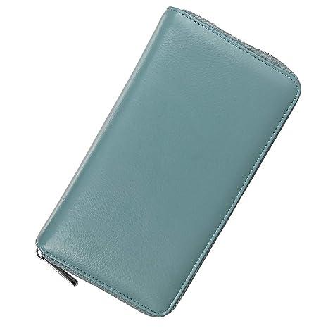 Carteras MUIZFUFI Portatarjetas de Crédito, Bloqueo RFID para Mujer/Hombre Cartera de Cuero 36