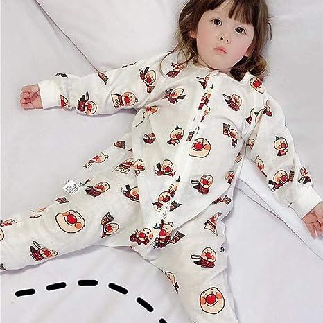 Saco De Dormir Para Bebé 6-18 Meses Niños Verano Algodón Fino Manga Larga Articulaciones De Las Piernas Pijama A Prueba De Patadas Unisexo: Amazon.es: Bebé