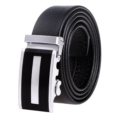 vbiger Ceinture pour homme ceinture en cuir entièrement rindle la ceinture  Noir - - B01DQVJ9QU ee487ea1c91