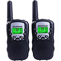 Xixiw Toys Walkie Talkies for 3-12 Year Old Boys Girls Children Kids Mini Two-Way Radio Best Gift -1 Pair Black