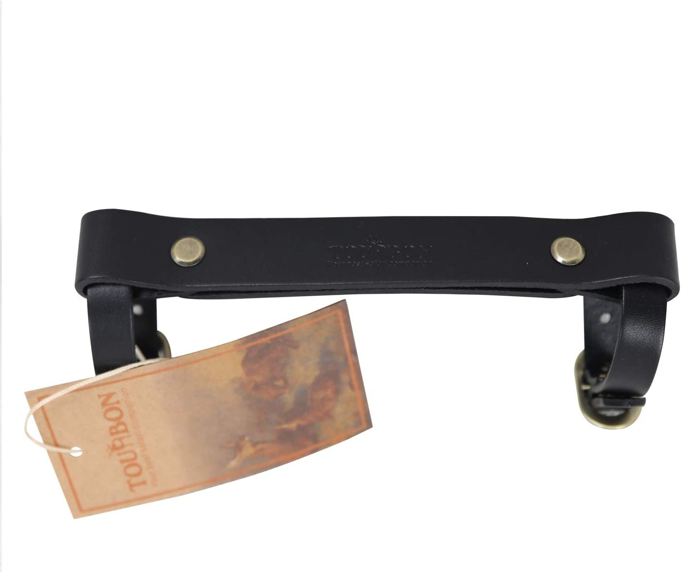 TOURBON Leather Bike Handle Strap Bicycle Frame Carrying Lifter