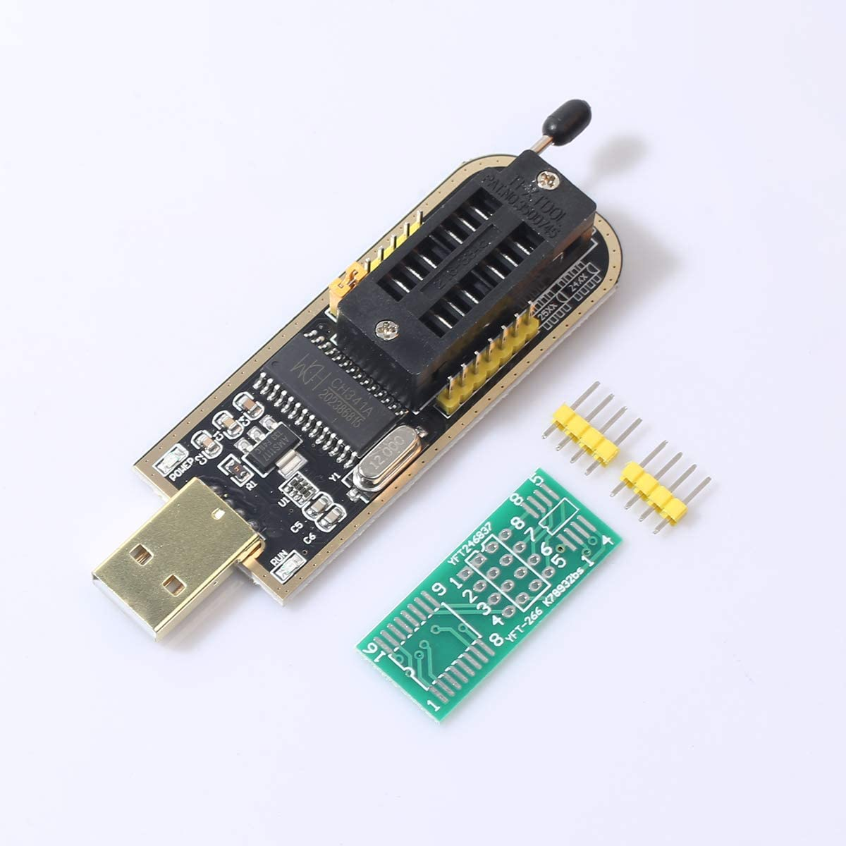 Amazon.com: USB Programmer Module CH341A Series Burner Chip 24 EEPROM BIOS  LCD Writer 25 SPI Flash USB to TTL 5V-3.3V: Computers & Accessories