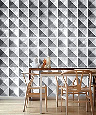 Amazonde Geometrische Stein Fliesen Wanddeko Wohnzimmer Ideen