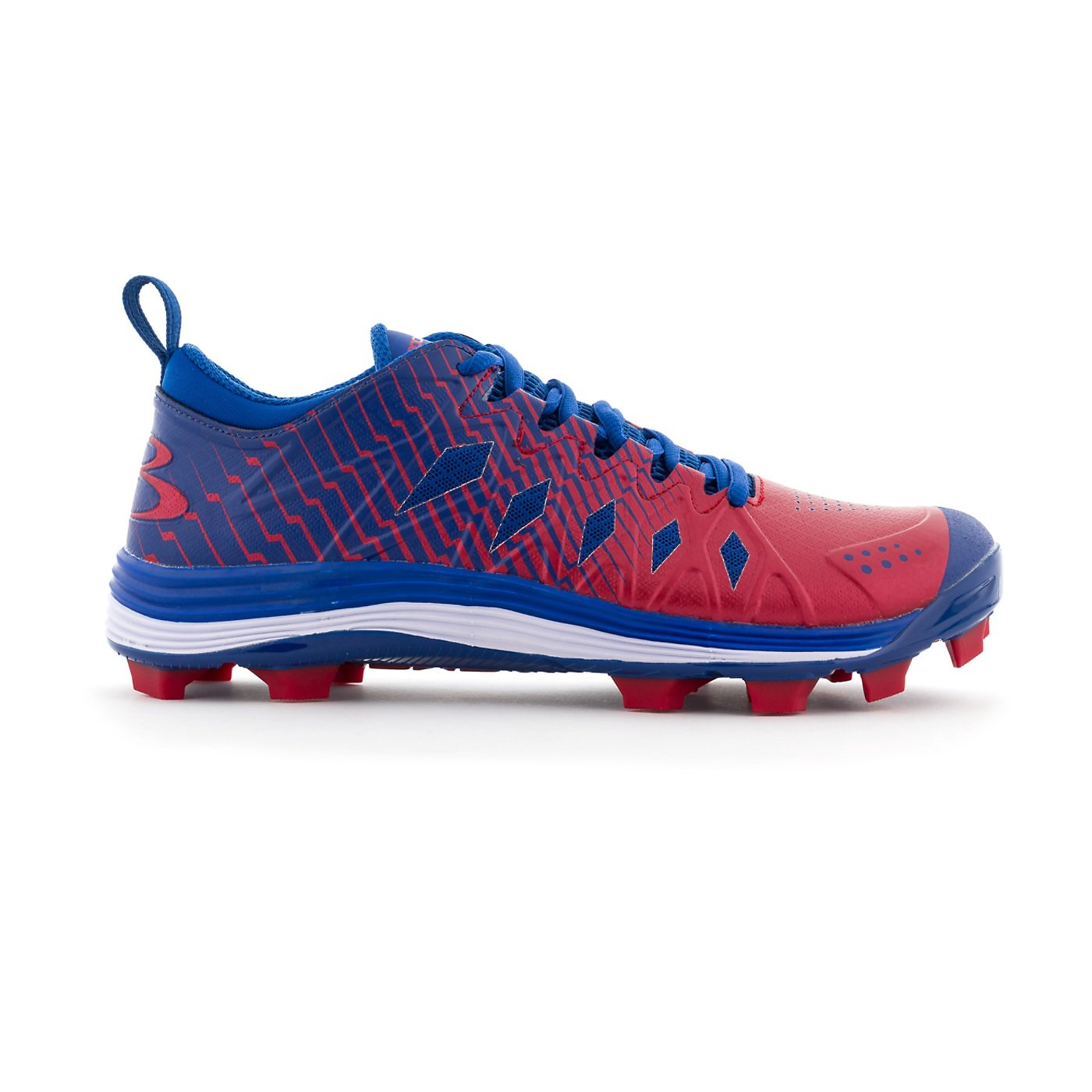 Boombah Men's Squadron Molded Cleats - 8 Color Options - Multiple Sizes B079V1FTMQ 5|Royal/Red