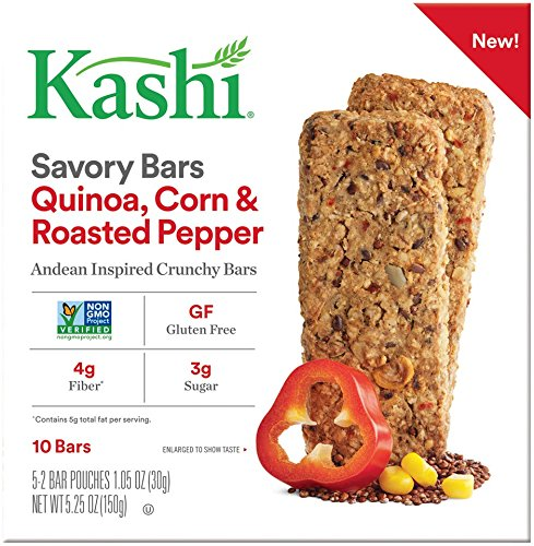 Kashi Quinoa Roasted Corn & Red Pepper Savory Bars, 5.25 Ounce
