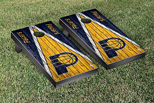 Indiana Pacers NBA Regulation Cornhole Game Set Triangle Weathered Version by Victory Tailgate