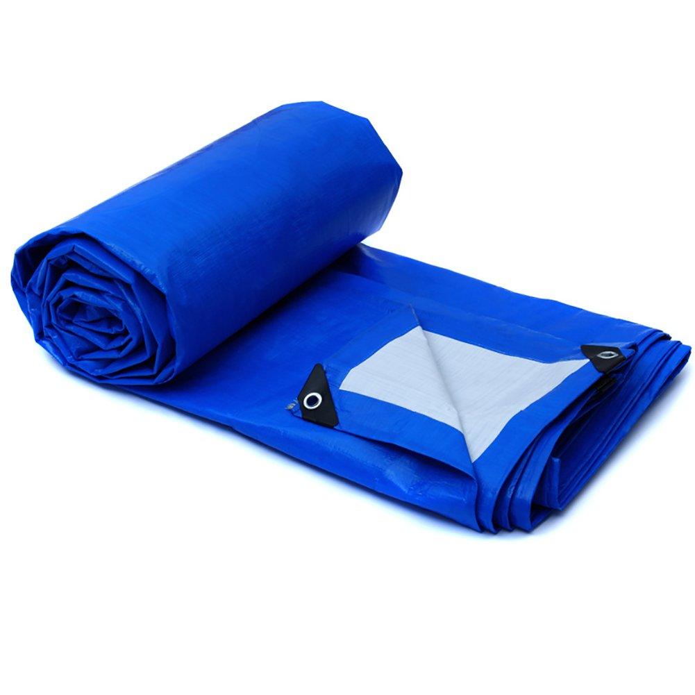 GUOWEI-pengbu ターポリン キャンバス リノリウム シェード 日焼け止め 防水 絶縁 不凍液 柔らかい プラスチック 屋外 (色 : Blue, サイズ さいず : 5.8x3.8m) B07FYHKQSP 5.8x3.8m|Blue Blue 5.8x3.8m