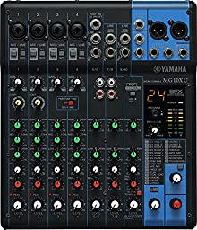 Yamaha MG10XU 10-Channel Mixing Console Bundle with Pure Resonance Audio MH10C Professional Monitoring Headphones (2 Items)