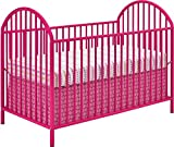 Ameriwood Home Prism Metal Crib, Bright Pink