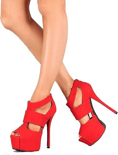 red platform stiletto heels