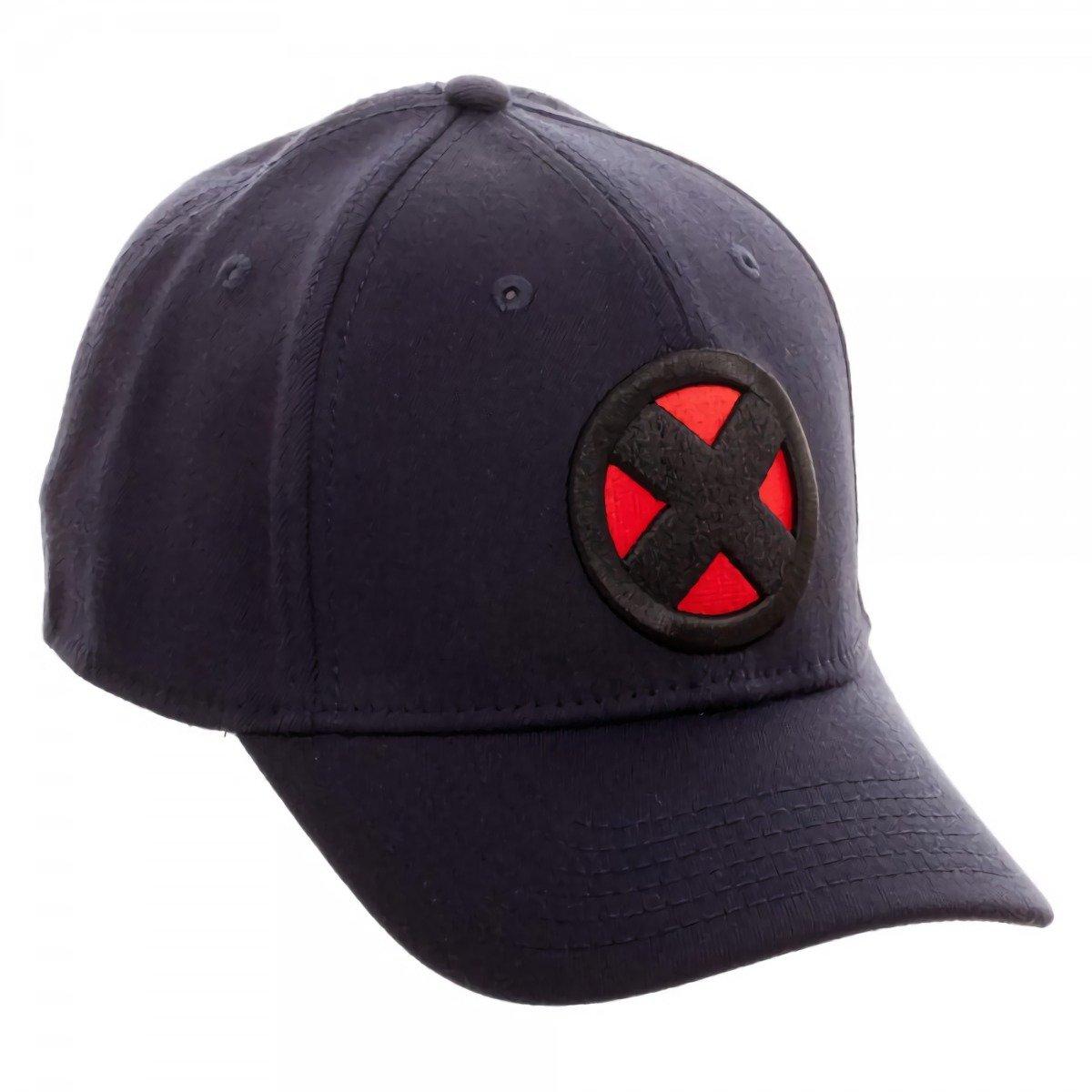 5be41dc82d6c9 Amazon.com  Marvel X-men X Logo Navy Flex Cap  Clothing