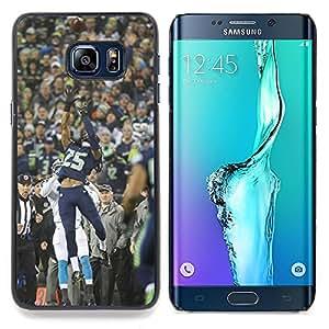 "Qstar Arte & diseño plástico duro Fundas Cover Cubre Hard Case Cover para Samsung Galaxy S6 Edge Plus / S6 Edge+ G928 (Catch 25 Fútbol"")"
