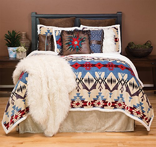 Set Twin Plush - Carstens, Inc Blue River Plush Comforter Bedding Set, Twin, Twin