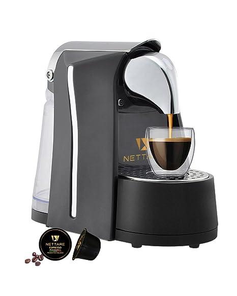 Nettare Prima Domestic Gourmet Italian Single Serve Automatic Espresso Coffee Pod Machine with One Touch, Black Coffee, Tea & Espresso at amazon