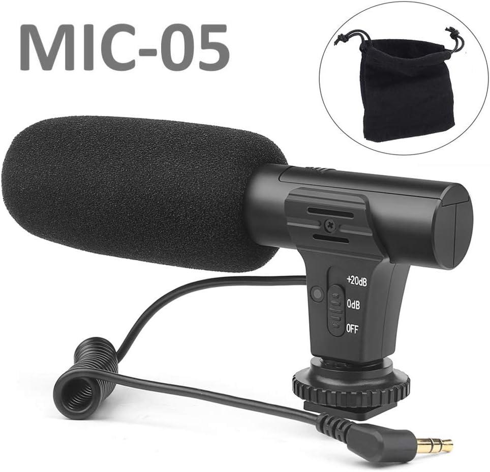 Amazon.com: Micrófono de cámara Lifetool MIC-05 micrófono de ...