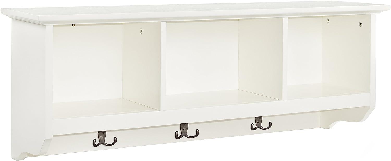 Crosley Furniture Brennan Entryway Hanging Storage Shelf, White