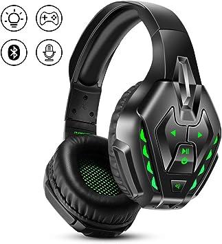 PHOINIKAS Auriculares Gaming para PS4, Auriculares con Cable para Juegos para Xbox One, PC, Nintendo Switch, Auriculares Inalámbricos Bluetooth Music con Mic y 7.1 Bass Surround- Green: Amazon.es: Electrónica
