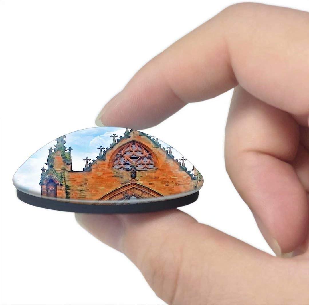 N//A Aimant France France Dinan Aimant de r/éfrig/érateur 3D Artisanat Souvenir Cristal R/éfrig/érateur Aimants Collection Cadeau de Voyage