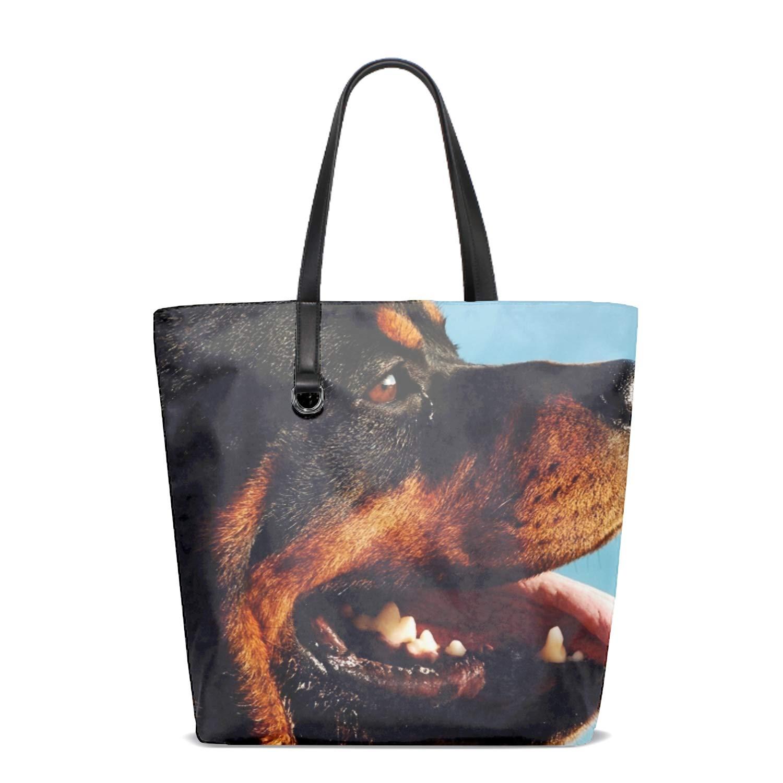 97e31ff4a04d Amazon.com: Women's Handbag Rottweiler Dog Handbags Shoulder Lunch ...