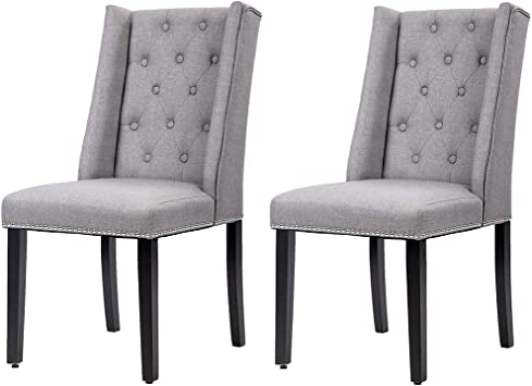 Set of 2 Blue Velvet Dining Room Chair FurnitureR Mid Century Modern Living Room Table Chairs Side Chair
