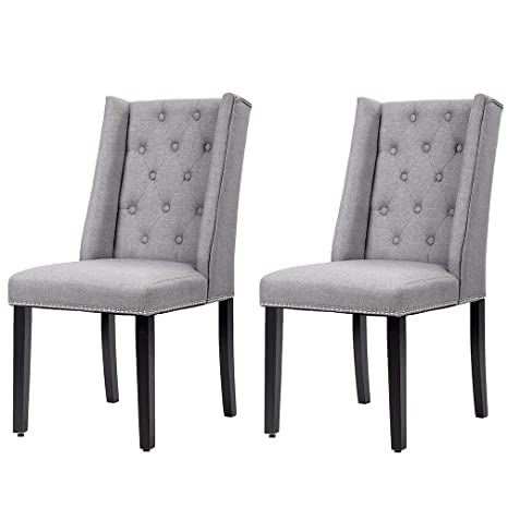 Dining Chairs Set of 2 Dining Room Chairs for Living Room Kitchen Chairs  Mid Century Modern Chair upholstered Parsons Chair for Restaurant Home