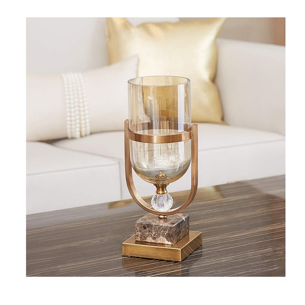 ガラス花瓶 独特な形のガラス花瓶34 Cmの高い簡単な様式の現代居間テーブル B07T5KHHLL