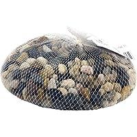 Rayher 8808104 naturlig flodsten för hantverk, heminredning och akvarium, grus i blandade bruna nyanser, 1 kg