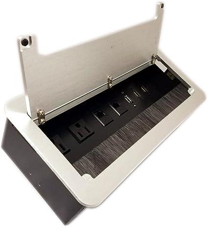 yolkvisual mesa Multimedia Caja de conectividad – 2 alimentación ...