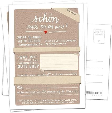 Hochzeitsspiel Für Gäste 52 Postkarten Schön Dass Du Da Bist Beige Spiel Mit Witzigen Fragen Zum Zeichnen Recyclingpapier Partykarten