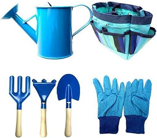 TELLM Herramienta de jardín de 6 piezas Set herramientas con jardín guantes y bolsa de jardín -