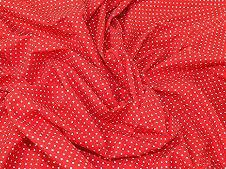 su di a mm tessuto al cotone rosso stampa bianco pois 2 vestito 6zSxwFq6X