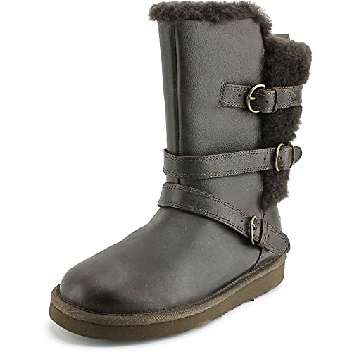 UGG Women's Becket Chocolate Leather Boot: Amazon.ca: Shoes