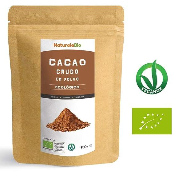 Cacao crudo Ecológico en Polvo 900g | Organic Raw Cacao Powder | 100% Bio,