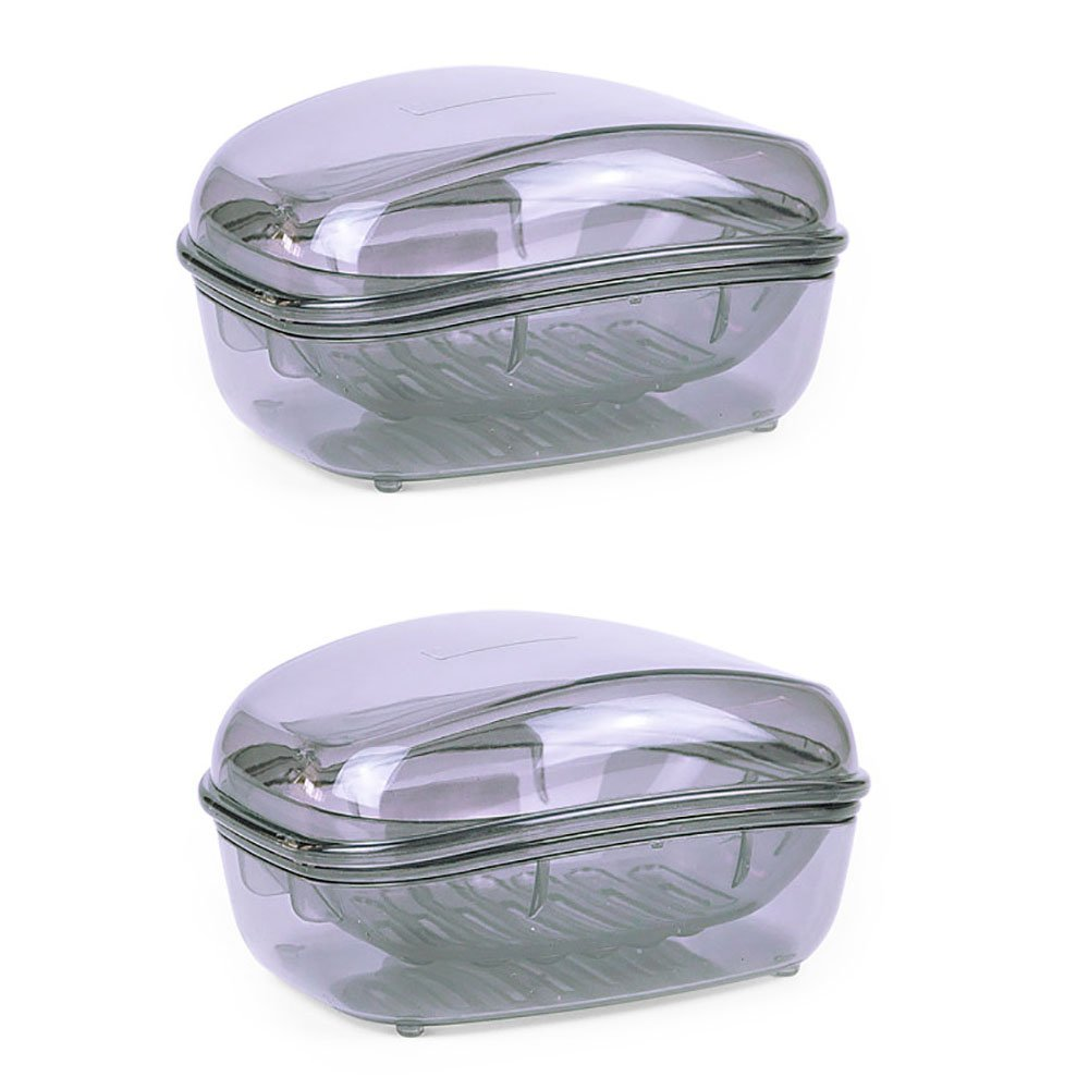Plastic Soap Case Holder Container Box For Home , Large Size , Pack of 2 by Sodear-LifE