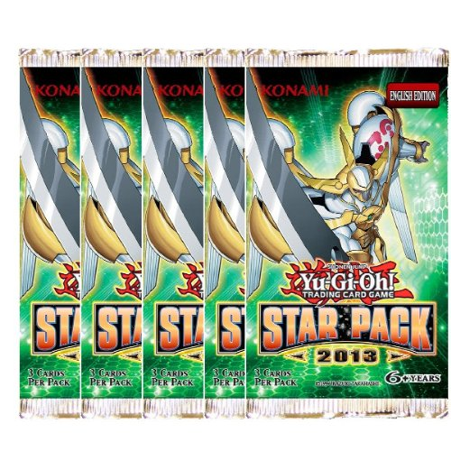 Yu-Gi-Oh! Star Pack 2013 Lot of 5 Booster Pack Photo