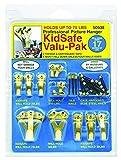 OOK by Hillman 535862 KidSafe Hanger Valu-Pak Kit 10lbs-100lbs