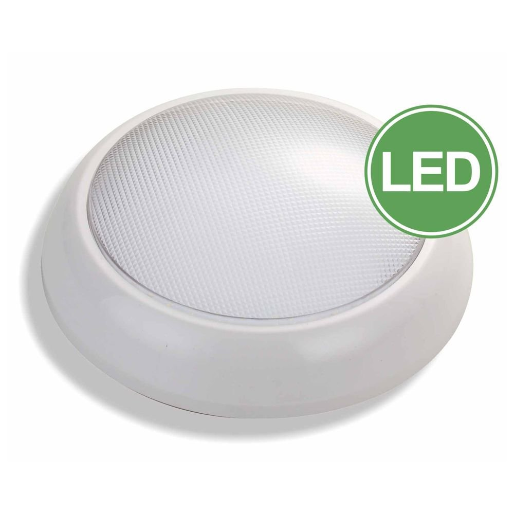 LED Bulkhead Fitting 16Watt IP54 White Base 2D Fitting