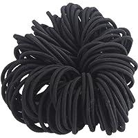 Lot de 100 Elastiques à Cheveux Simple pour Femme/Fille Bandeaux de Queue de Cheval Chouchou Accessoires pour Cheveux Accessoire de Coiffeur