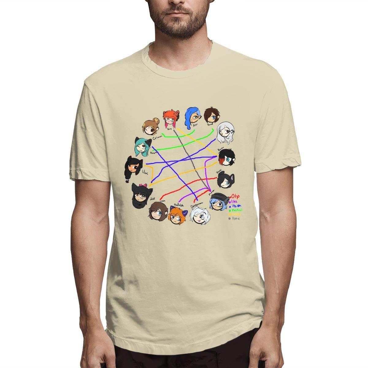 SHENGN Mens Personalized \r\nCasual MyStreet Kids Ship Chart Aphmau Short Sleeve Novelty T Shirt Gray