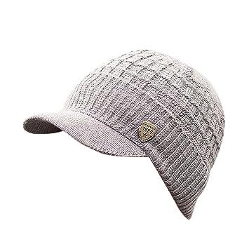 a59c771446e Amazon.com   Veepola Men Women Baggy Weave Crochet Winter Wool Knit Beanie  Caps Hat (Khaki)   Beauty
