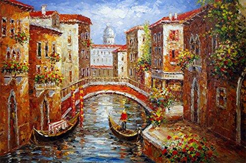 Venice Italy Cafe Gondola Wine Mediterranean Canal Pole Bridge Art