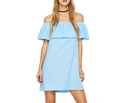 1b8a3314dfed Image Unavailable. Image not available for. Color: Ruffles Summer Dresses  ...