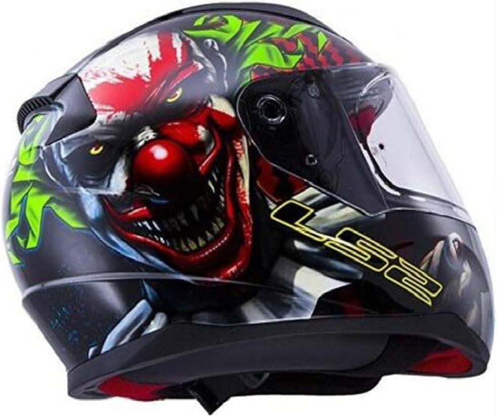 XS-3XL Adults LS2 Motorcycle Helmet Full Face GLOW IN THE DARK 2020 FF353 Rapid Happy Dreams Touring Lid New Scary Clown Joker Motorbike Helmet