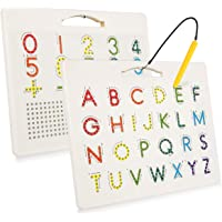 Magnetic Alphabet Tracing Board for Kids, Apfity Magnetic Letter and Number Tracing Board for Toddlers, ABC Magnetic…