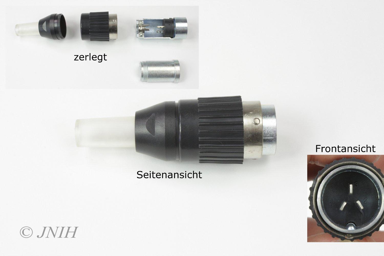 5 Poliger WIG TIG Tuchel Stecker männlich Steuerstecker Brenner Schlauchpaket